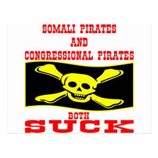 Somali & Congressional Pirates Both Suck Postcard