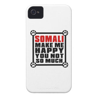 SOMALI MAKE ME HAPPY YOU NOT SO MUCH iPhone 4 CASE