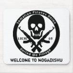 Somalí piratea la unión - recepción a Mogadishu Alfombrillas De Ratón
