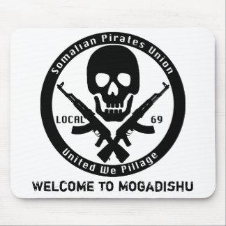 Somalí piratea la unión - recepción a Mogadishu Tapetes De Ratón
