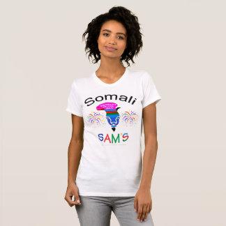 """""""Somali Sam, Dessert Truck Man"""" cool white t-shirt"""