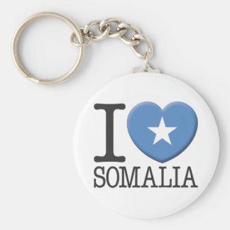 Somalia Basic Round Button Keychain