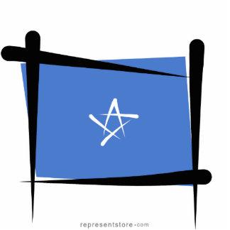 Somalia Brush Flag Statuette