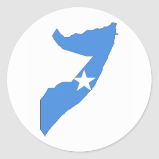 somalia country flag map classic round sticker