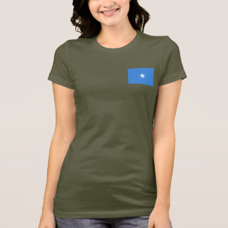 Somalia Flag and Map dk T-Shirt