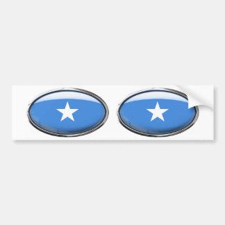 Somalia Flag Glass Oval Bumper Sticker