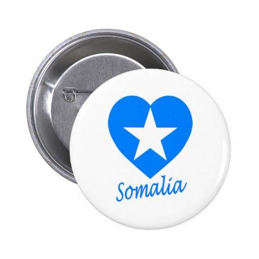 Somalia Flag Heart Pins
