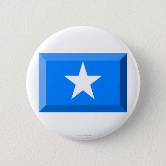 Somalia Flag Jewel Pinback Button