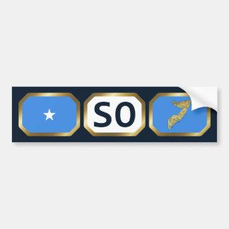 Somalia Flag Map Code Bumper Sticker
