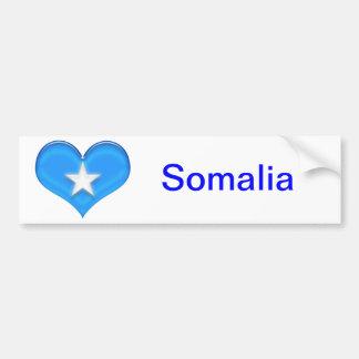 Somalia Heart Flag Bumper Sticker