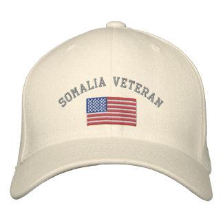 SOMALIA Vet with American Flag Embroidered Baseball Cap
