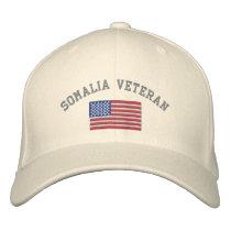 SOMALIA Vet with American Flag Embroidered Baseball Hat
