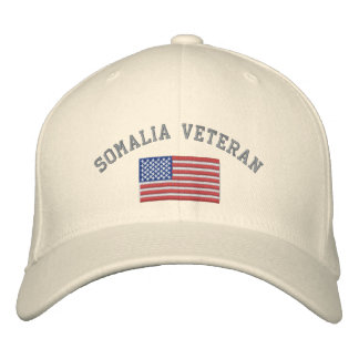 SOMALIA Vet with American Flag Embroidered Baseball Hat