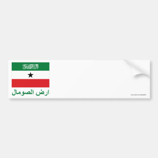 Somaliland Flag with Name in Arabic Bumper Sticker