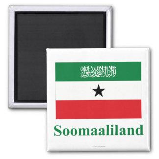 Somaliland Flag with Name in Somali Refrigerator Magnet