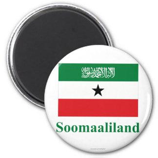 Somaliland Flag with Name in Somali Magnet