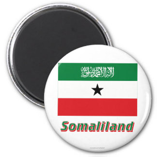 Somaliland Flag with Name Refrigerator Magnet