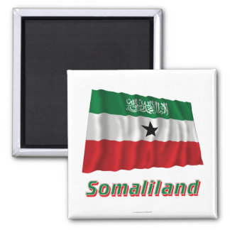 Somaliland Waving Flag with Name Refrigerator Magnets