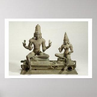 Somaskanda, Chola, Tamil Nadu (bronce) Póster