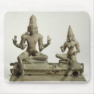 Somaskanda, Chola, Tamil Nadu (bronce) Tapete De Ratón
