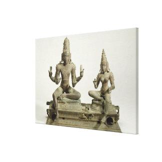 Somaskanda, Chola, Tamil Nadu (bronze) Canvas Print
