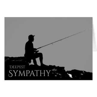 Somber Masculine Sympathy Card for a Fisherman