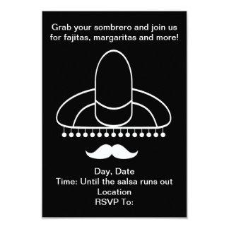 Somber Sombrero Cinco de Mayo Party Invitations