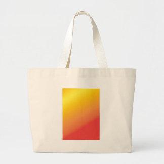 Sombra anaranjada llana del rojo del oro bolsa tela grande