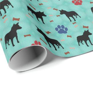 Sombra australiana del perro del ganado papel de regalo