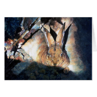 Sombra (conejo) tarjeta de felicitación