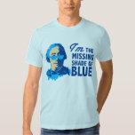 Sombra de David Hume de la camiseta azul Playeras