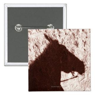 sombra de la cabeza de caballo de montar a caballo pin cuadrado