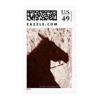 sombra de la cabeza de caballo de montar a caballo sellos