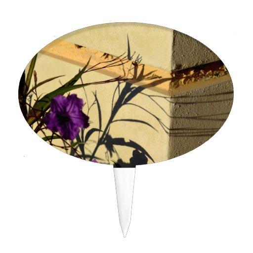 sombra de la flor en petunia mexicana púrpura del  decoraciones de tartas