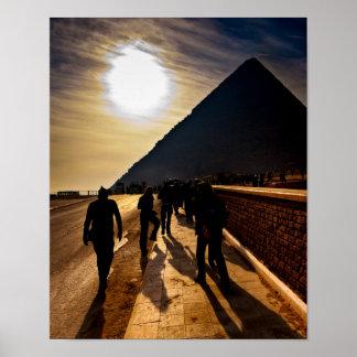 Sombra de la gran pirámide - Egipto 11x14 archival Póster