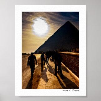 Sombra de la gran pirámide - Egipto - mini Póster