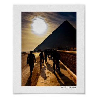 Sombra de la gran pirámide - Egipto - pequeña Póster
