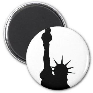 Sombra de la libertad imán redondo 5 cm