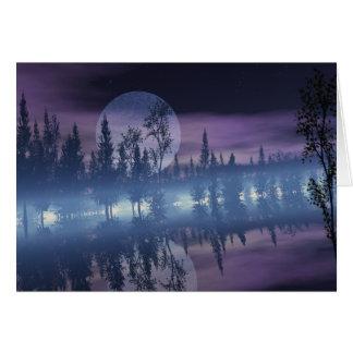 Sombra de la luna tarjeta de felicitación