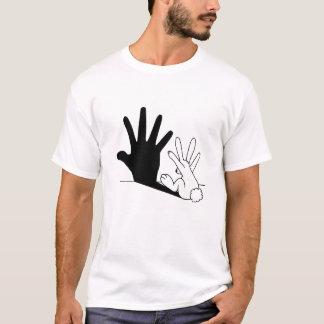 Sombra de la mano del conejo playera