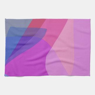 Sombra de la púrpura de la brisa apacible toalla de cocina