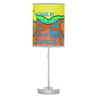 Sombra de lámpara - aquí por la creación