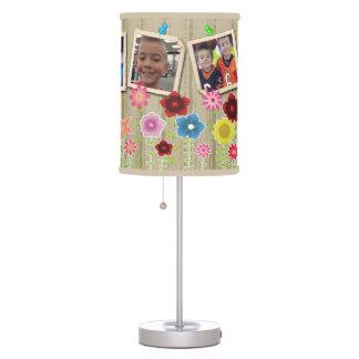 Sombra de lámpara de encargo de la foto del jardín