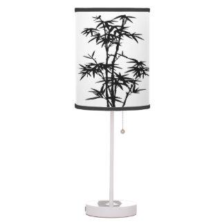Sombra de lámpara de mesa de bambú del diseño