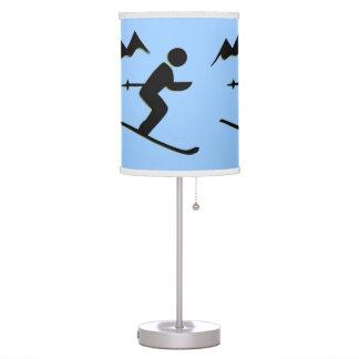 Sombra de lámpara de mesa de esquí del diseño