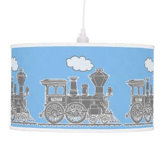 Sombra de lámpara del azul y del gris de cielo del