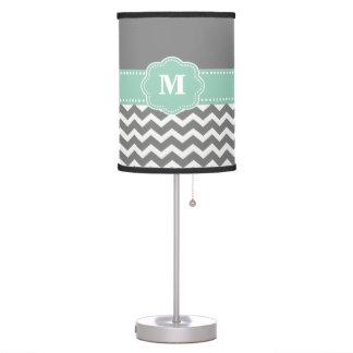 Sombra de lámpara del monograma de Chevron del gri