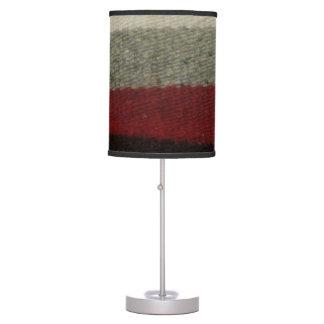 Sombra de lámpara gris, roja negra