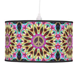 Sombra de lámpara maravillosa del signo de la paz