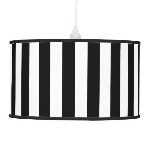 Sombra de lámpara pendiente blanco y negro de las